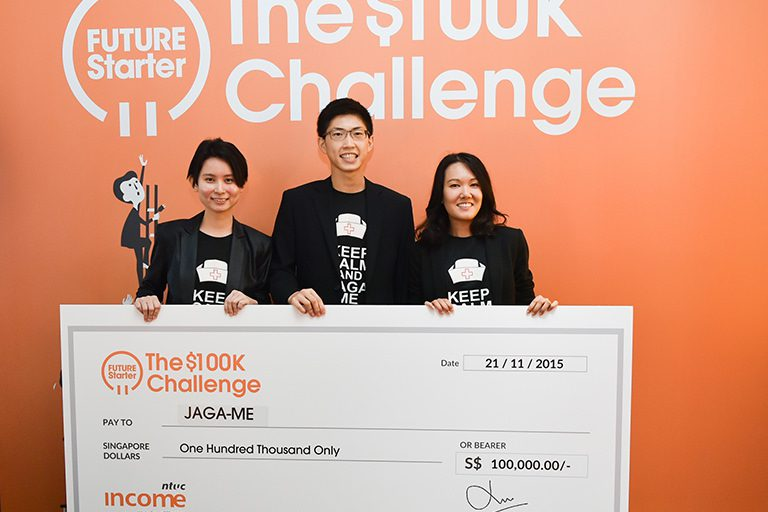 Jaga-Me awarded top prize by NTUC Income's Future Starter $100k Challenge
