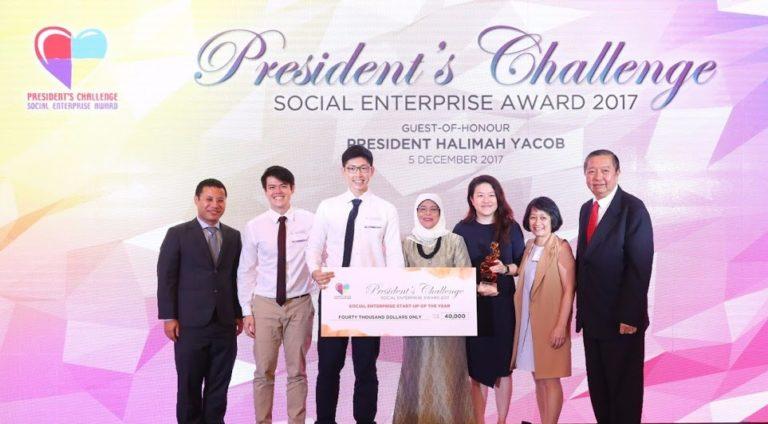 Jaga-Me awarded the President's Challenge Social Enterprise Award 2017