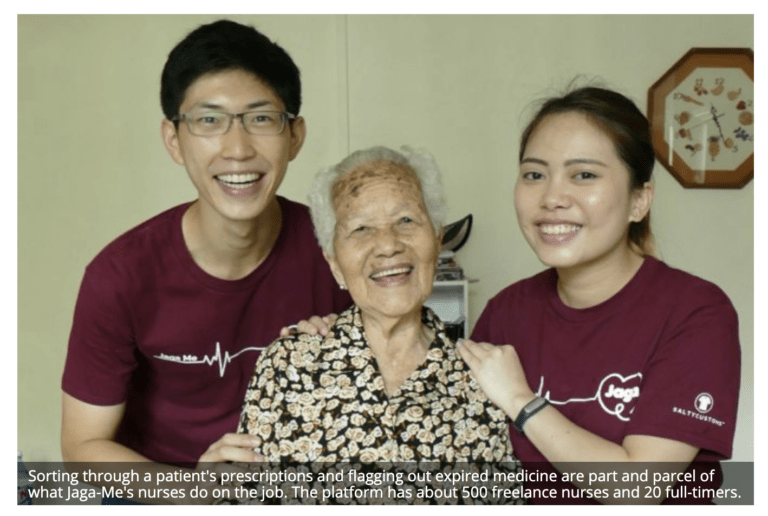 Jaga-Me featured by the Business Times for bringing medical and caregiving services into homes
