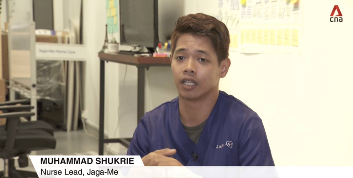 Jaga-Me's role in Community Healthcare featured by Channel News Asia
